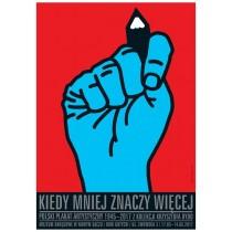 Wenn weniger mehr ist Mirosław Adamczyk Polnische Plakate