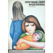 Wenn dir ein Mann zur Seite steht Valeriu Gajiu Hanna Bodnar Polnische Plakate