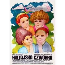 Hultajska czwórka Hanna Bodnar Polnische Plakate
