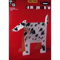 Hundertundein Dalmatiner - Dodie Smith Tomasz Bogusławski Polnische Plakate