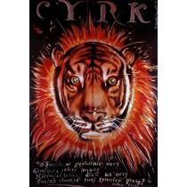 Zirkus Tiger Jerzy Czerniawski Polnische Plakate