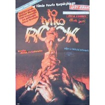 Es ist nur Rock Paweł Karpiński Witold Dybowski Polnische Plakate
