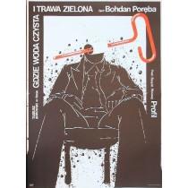 Wo das Wasser klar und das Gras noch grün ist Bohdan Poręba Jakub Erol Polnische Plakate