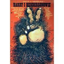 Bigfoot und die Hendersons Jakub Erol Polnische Plakate