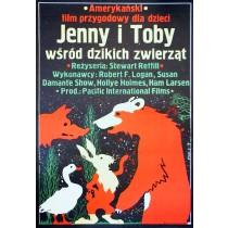 Abenteuer der Familie Robinson in der Wildnis Jakub Erol Polnische Plakate