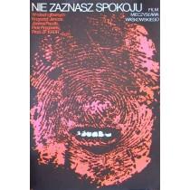 Du wirst keine Ruhe finden Jakub Erol Polnische Plakate
