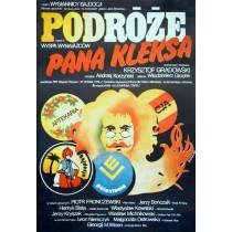 Travels of Mr. Kleks Jakub Erol Polnische Plakate