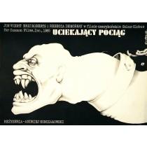 Express in die Hölle Michalkow-Kontschalowski Jakub Erol Polnische Plakate