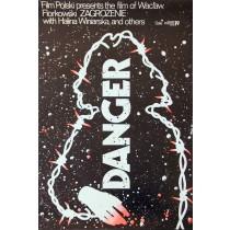 Danger Jakub Erol Polnische Plakate
