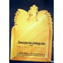 Goldene Zug Jakub Erol Polnische Plakate