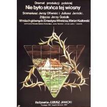 In jenem Frühling Juliusz Janicki Jakub Erol Polnische Plakate