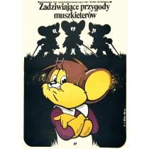 Drei Mäuse-Musketiere Victor Antonescu Jakub Erol Polnische Plakate