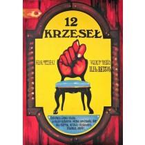 12 Stühle Jakub Erol Polnische Plakate