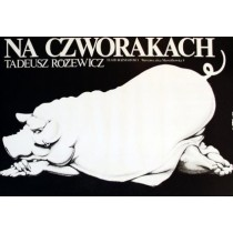 Auf allen Vieren Jakub Erol Polnische Plakate