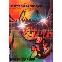 Test des Piloten Pirx Jakub Erol Polnische Plakate