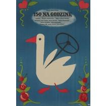 150 km Per Hour Jerzy Flisak Polnische Plakate
