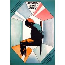 Brillanten der Frau Susa Jerzy Flisak Polnische Plakate