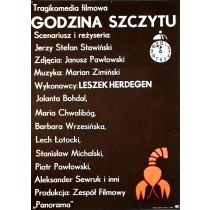 Auf dem Gipfel des Ruhms Jerzy Flisak Polnische Plakate