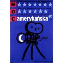 Amerikanische Nacht Jerzy Flisak Polnische Plakate