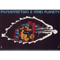 Botschaft der Götter Jerzy Flisak Polnische Plakate