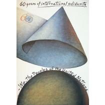 60 Jahre internationaler Solidarität Mieczysław Górowski Polnische Plakate