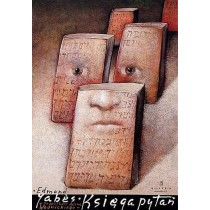 Buch der Fragen Edmond Jabès Mieczysław Górowski Polnische Plakate