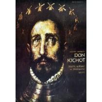 Don Quixote Wiesław Grzegorczyk Polnische Plakate