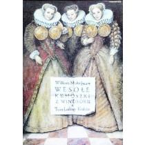 Lustigen Weiber von Windsor Wiesław Grzegorczyk Polnische Plakate