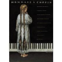 Hommage a Chopin Wiesław Grzegorczyk Polnische Plakate