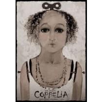 Coppelia Das Mädchen mit den Glasaugen Ryszard Kaja Polnische Plakate