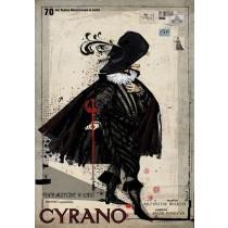 Cyrano Musical von Krzysztof Herdzin und Jacek Bończyk Ryszard Kaja Polnische Plakate