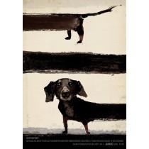 Über Dackel Ryszard Kaja Polnische Plakate