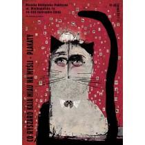 Co Ryszard Kaja miau na myśli Ryszard Kaja Polnische Plakate
