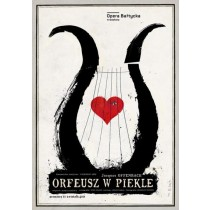 Orpheus in der Unterwelt Jacques Offenbach Ryszard Kaja Polnische Plakate