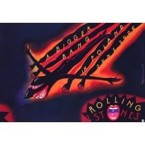 The Rolling Stones Roman Kalarus Polnische Plakate