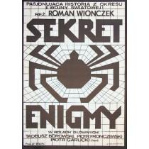 Geheimnis der Enigma Roman Wionczek Andrzej Krajewski Polnische Plakate