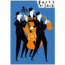 Gesichter des Jazz Faces of jazz Patrycja Longawa Polnische Plakate