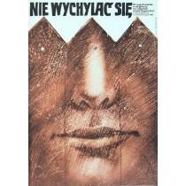 Nicht hinauslehnen Bogdan Zizic Lech Majewski Polnische Plakate
