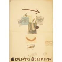 Detektiv von Tschegem Aleksandr Svetlov Lech Majewski Polnische Plakate