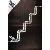 Vorsicht, Schlangen! Zakir Sabitov Lech Majewski Polnische Plakate