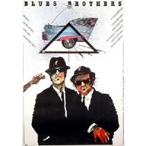 Blues Brothers John Landis Grzegorz Marszałek Polnische Plakate