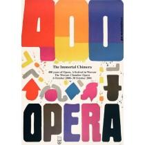Oper 400 Jahre Oper Jan Młodożeniec Polnische Plakate