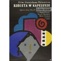 Frau mit dem Hut Stanisław Różewicz Jan Młodożeniec Polnische Plakate