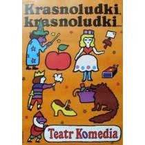 Krasnoludki, krasnoludki Jan Młodożeniec Polnische Plakate