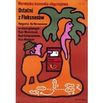 Den siste Fleksnes Jan Młodożeniec Polnische Plakate