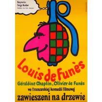 Balduin, der Sonntagsfahrer Jan Młodożeniec Polnische Plakate
