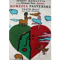 Komedia pasterska Jan Młodożeniec Polnische Plakate
