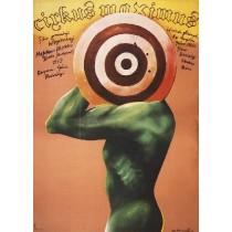 Zirkus der Verdammten Geza von Radvanyi Marian Nowiński Polnische Plakate