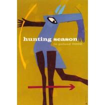 Jagdsaison in Polen Elżbieta Chojna Polnische Plakate