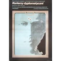 Diplomatische Kuriere Villen Novak Maciej Hibner Polnische Plakate